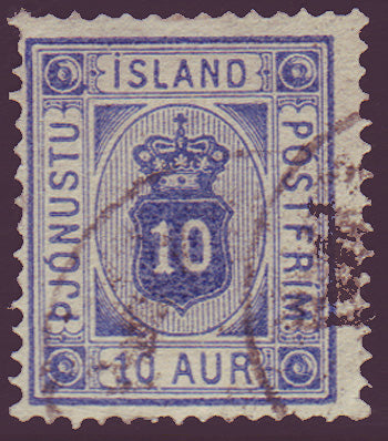 ICO06a5 Iceland Scott # O6a  VF used