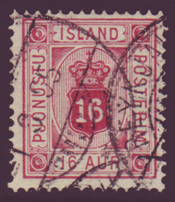ICO075 Iceland Scott # O7 VF used