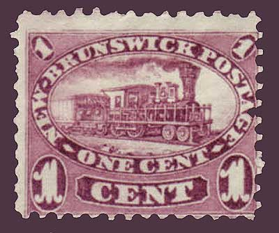 NB062      New Brunswick # 6 F MH, Cents Issue 1860.