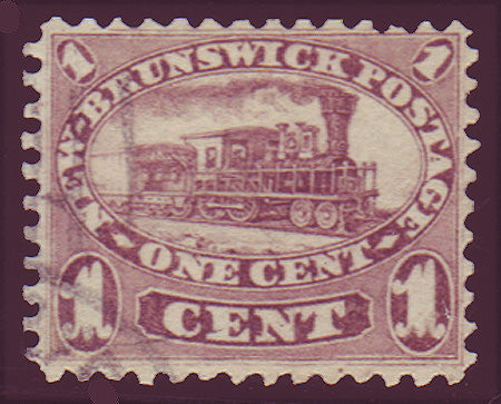 NB065.1PE      New Brunswick # 6 VF used, Cents Issue 1860.