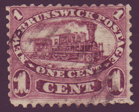 NB065      New Brunswick # 6 F used, Cents Issue 1860.