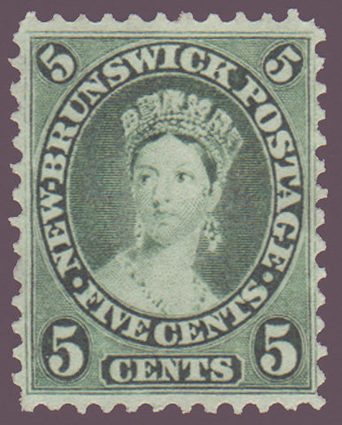 NB082.2      New Brunswick # 8a XF Queen Victoria, blue green MH NG