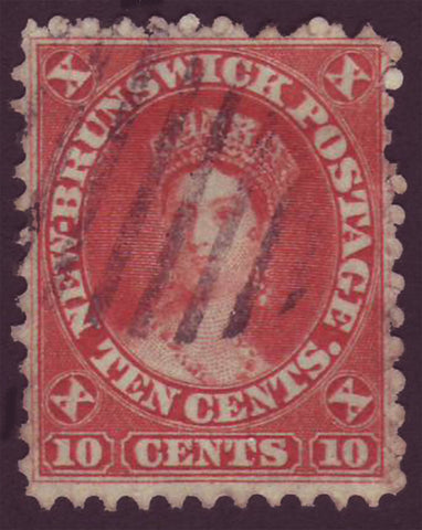 NB095      New Brunswick # 9 VF Queen Victoria 1860