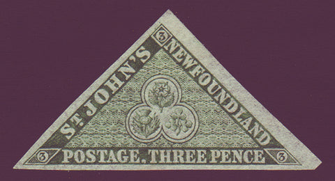 NF011ANG Newfoundland       # 11A VF  (no gum)      Second pence issue 1860