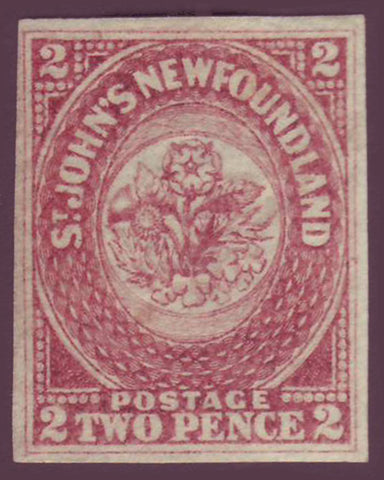 NF0172.2 Newfoundland       # 17 VF MH      rose.      1861 - third pence issue                                         ;