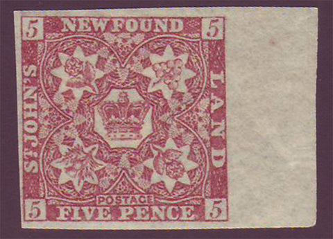 NF019a2 Newfoundland       # 19a VF MH             orange brown.      1861 - third pence issue