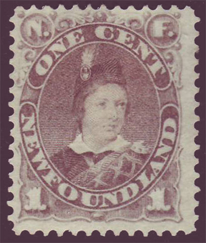 NF0422 Newfoundland       # 42 F-VF MH      grey brown.       Prince of Wales 1880