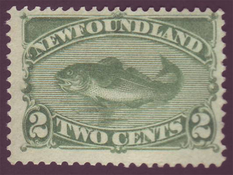 NF0471 Newfoundland       # 47 F-VF NG (no gum)      green      codfish - 1882