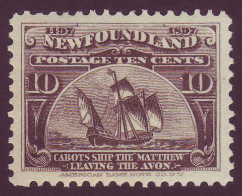 NF0682 Newfoundland  # 65 XF MH,  Cabot's Ship the ''Matthew'' 1897