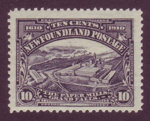 NF1012 Newfoundland # 101 F-VF MH Paper Mills - 1911