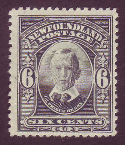 Newfoundland stamp 6¢ Prince Harry in black
