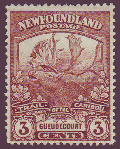 NF1172 Newfoundland # 117 F-VF MNH, Trail of the Cariboo Issue 1919                                                             1911