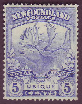 NF1192 Newfoundland # 119 VF MH, Trail of the Cariboo Issue 1919                                                             1911