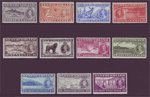 NF233-432 Newfoundland  # 233-43 VF MH. Long Coronation Issue