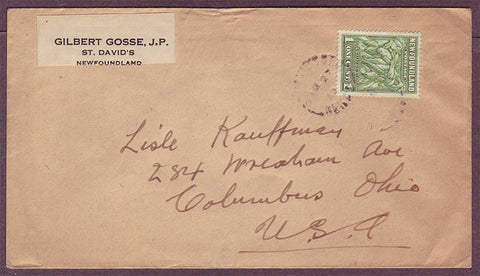 NF5011PH Newfoundland Letter to USA - 1932