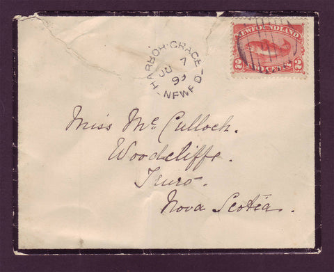 NF5011 Newfoundland Mourning Cover to Nova Scotia 1899