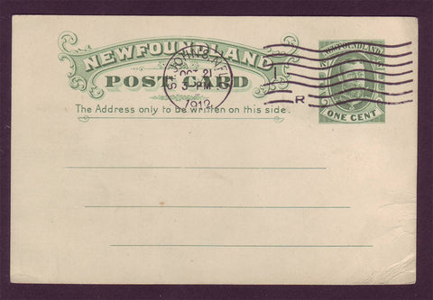 NF5012 Newfoundland Postal Stationery Card 1912