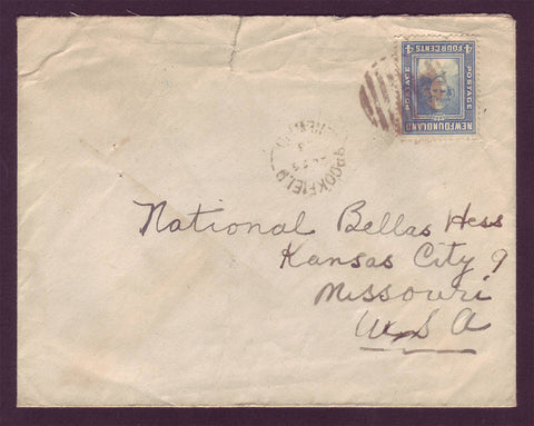 NF5015 Newfoundland Letter to USA, - Bellas Hess Department Store 1943