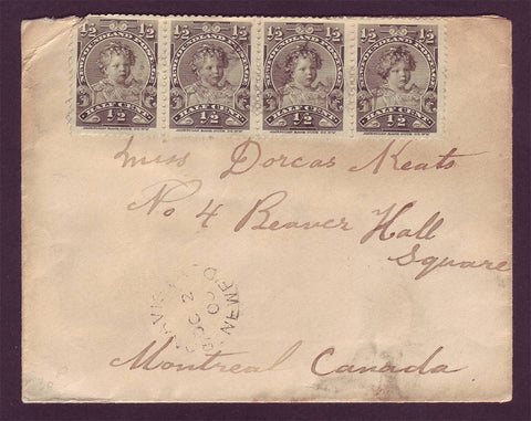 NF5020 Newfoundland Letter to Montreal, Canada 1900