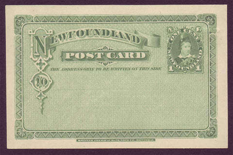 NF5021 Newfoundland Postal Stationery Post Card # UX3 Mint 1880