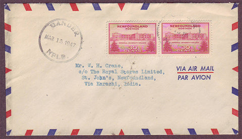 NF5022aPH Newfoundland Airmail letter