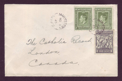 NF5026PH Newfoundland Cover to Canada 1945