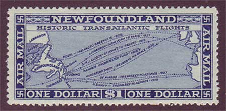NFC081       Newfoundland # C8 VF MNH**. Historic Transatlantic Flights.