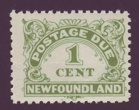 NFJ11    Newfoundland # J1 F-VF MH  Perf. 11  Postage Due 1949