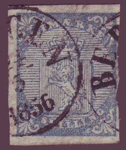 NO00015PH Norway Scott # 1, Coat of Arms 1855