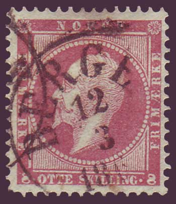 NO00055PE Norway Scott # 5 VF