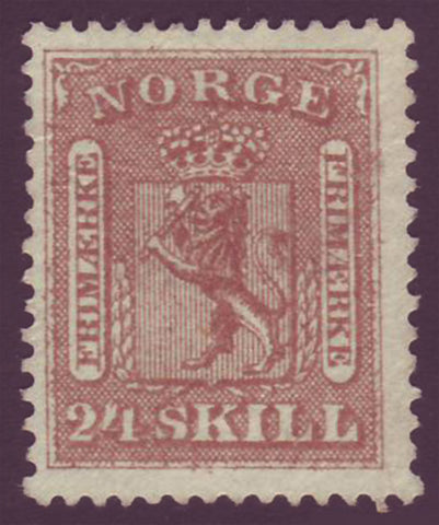 NO00102 Norway Scott # 10 NG, - Coat of Arms 1863
