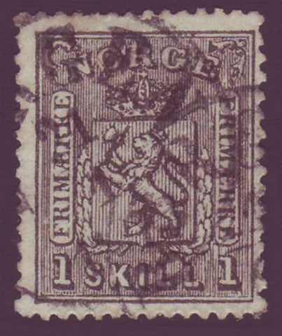 NO0011.15 Norway Scott # 11 used - Coat of Arms 1867