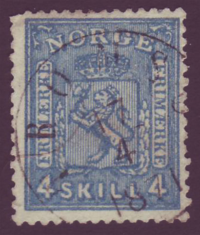 NO00145 Norway Scott # 14 F-VF used - Coat of Arms 1867