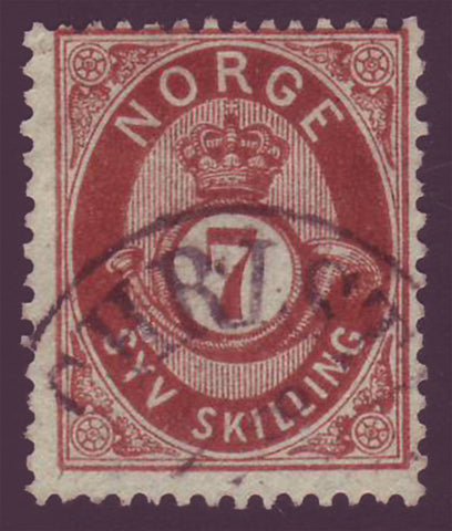NO0021.15 Norway Scott # 21 used - Posthorn 1872-75