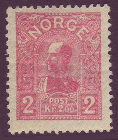 NO00662 Norway Scott # 66 VF MH, HR (Die A) - King Haakon 1907