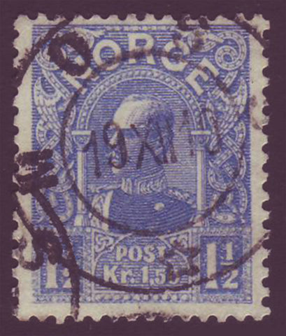 NO00682 Norway Scott # 68 used (Die B) - King Haakon 1909-10