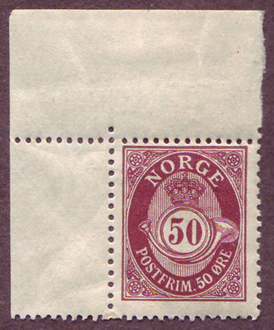 NO00941 Norway Scott # 94 F-VF MNH** - Posthorn 1910-29