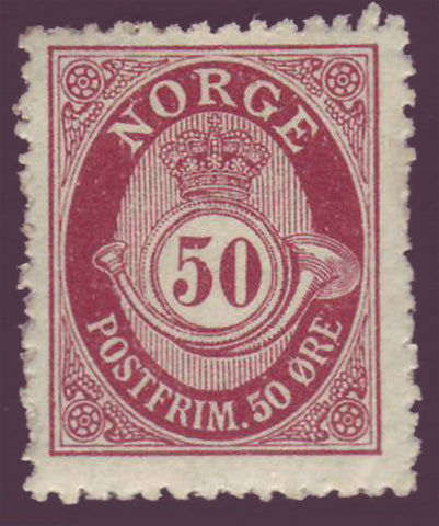 NO00942 Norway Scott # 94 F-VF MH, Posthorn 1910-29