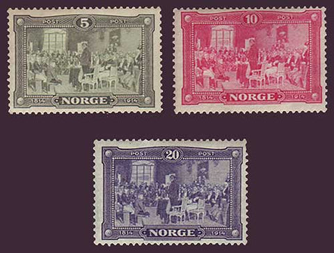 NO0096-982 Norway Scott # 96-98 VF MNH** - Constitution 1814-1914