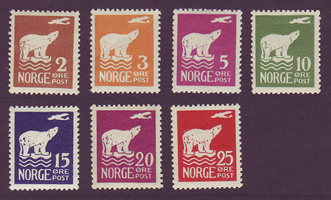 NO0104-102PH Norway Scott # 104-10 VF MH - Polar Bear and Airplane