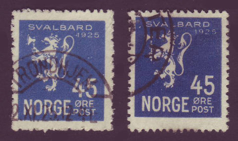 NO01145 Norway Scott # 114 VF Svalbard Used Shades - 1925