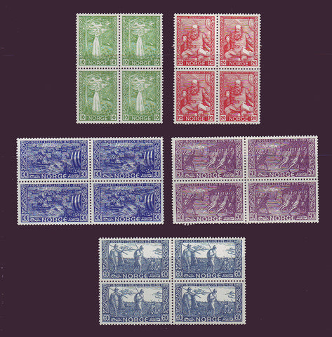 NO0240-45 Norway Scott # 240-45 (short set) - Snorri Sturlusun 1941