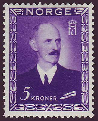 NO02782 Norway Scott # 278 VF MH - Haakon VII 1946