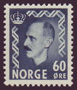 NO03161 Norway Scott # 316 VF MH, King Haakon II