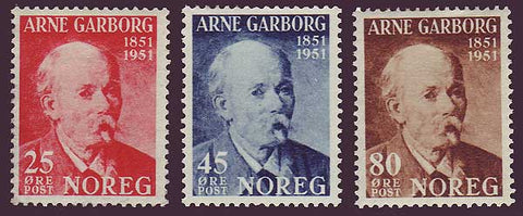 NO0318-20PE Norway Scott # 318-20 MNH** - Arne Garborg 1951