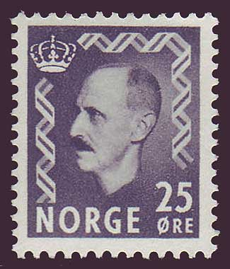 NO03221 Norway Scott # 322 VF MH - King Haakon II