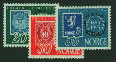 NO0340-422 Norway Scott # 350-42 MNH**  Stamp Reproductions with overprint