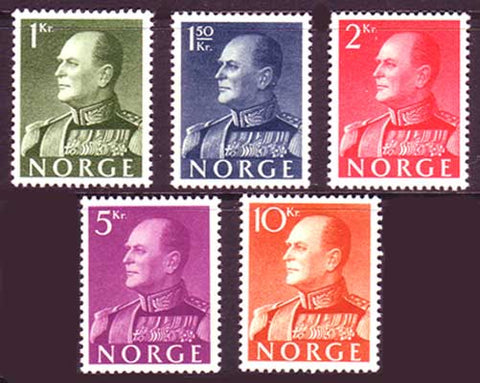 NO0370-742 Norway Sc. # 370-74 MNH**, King Olav V-1959