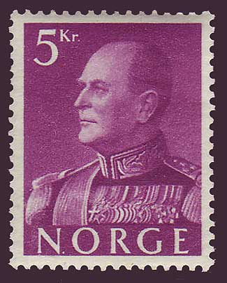 NO03731 Norway Scott # 373 VF MH, King Olav V 1958