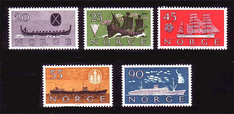 NO0382-62 Norway Scott # 382-86 VF MNH** Norwegian Shipping